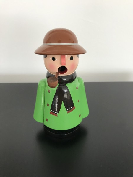 German smoking man farmer green 13cm