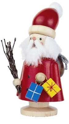 Smoker Santa Claus stained 14cm