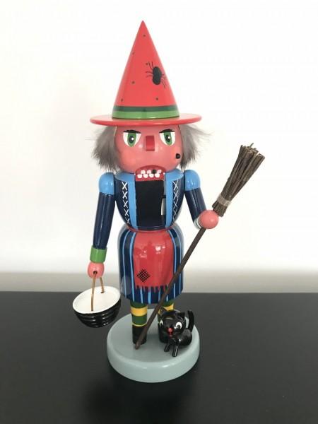 Erzgebirge German nutcracker witch 11.02 inch