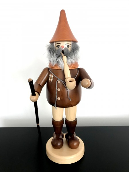 German Ore Mountains smoking man collector 14.57 inch